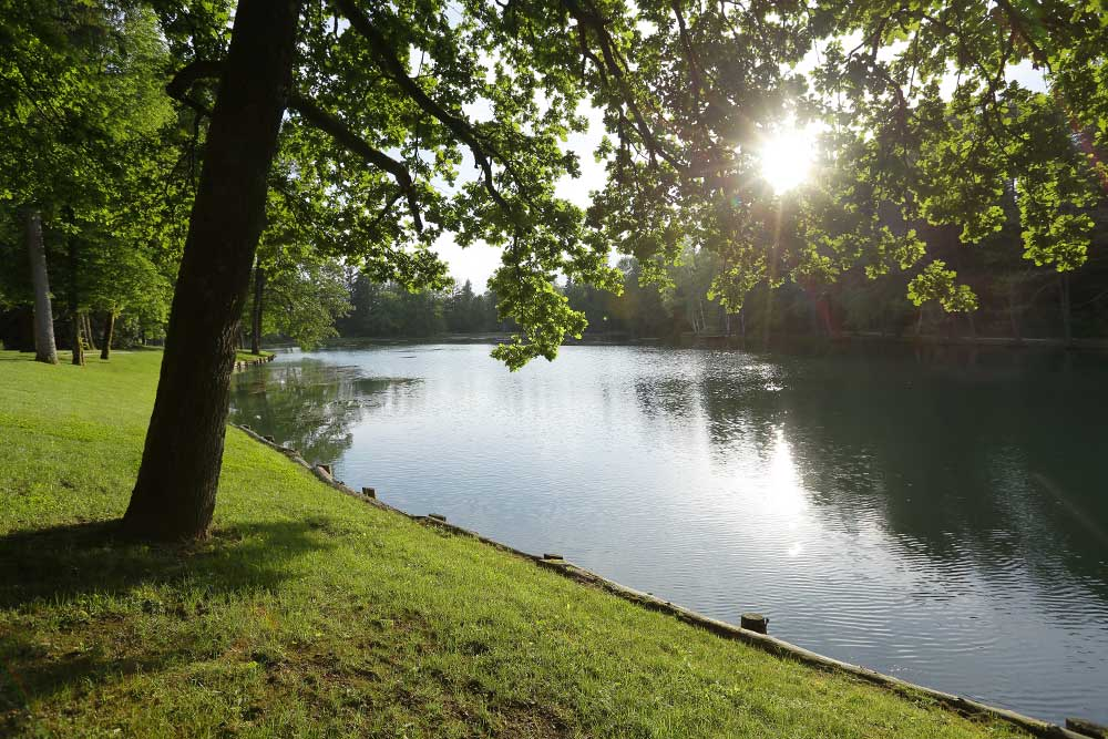 Lake in park Brdo