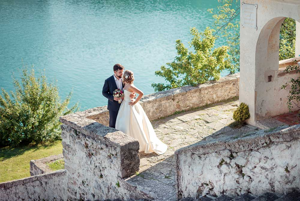 Newlyweds on Bled Island