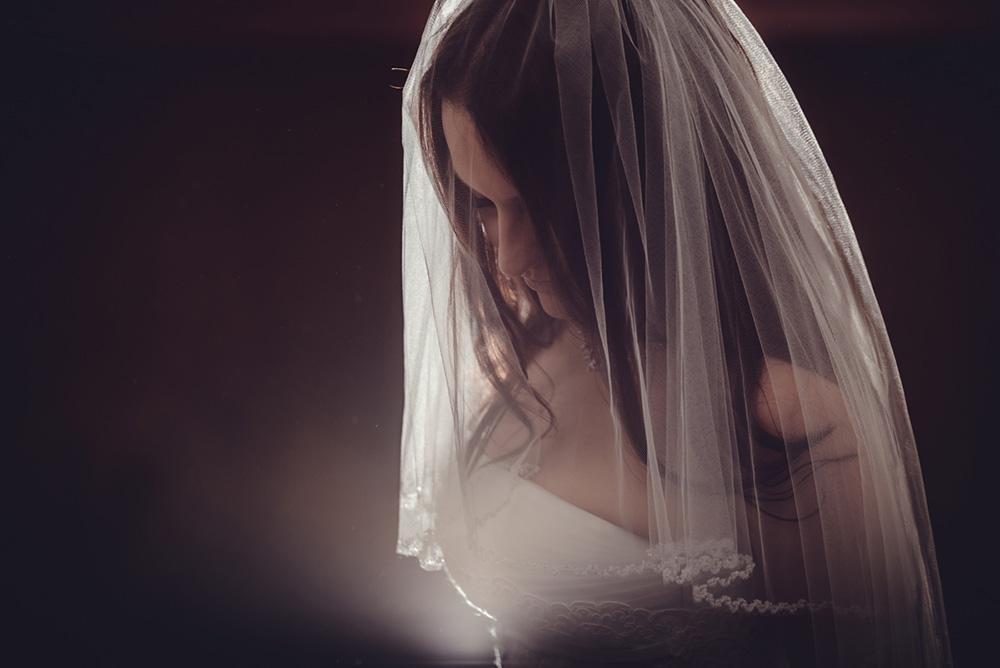 Bride with a veil