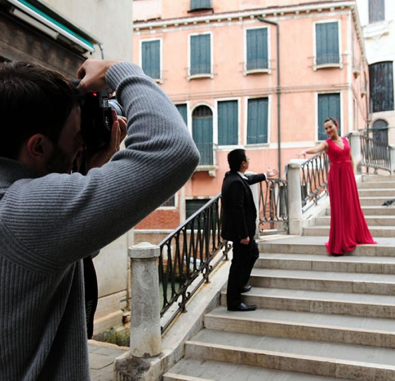 Pre-wedding photography in Venice