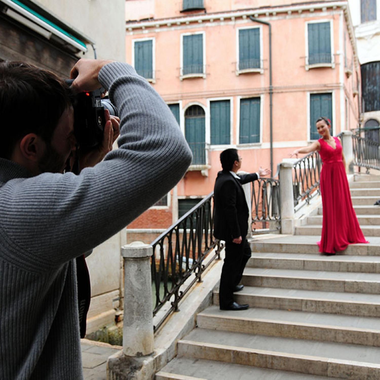 Pre-wedding photography in Venice