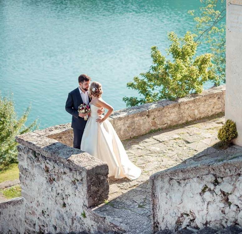Newlyweds on Bled Island