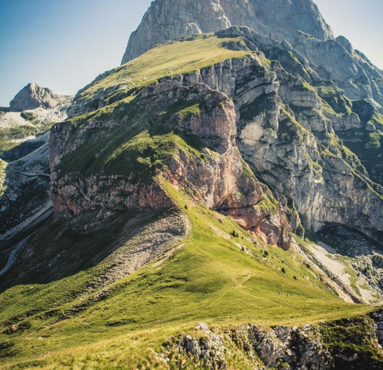 Slovenian mountain covered with green grass