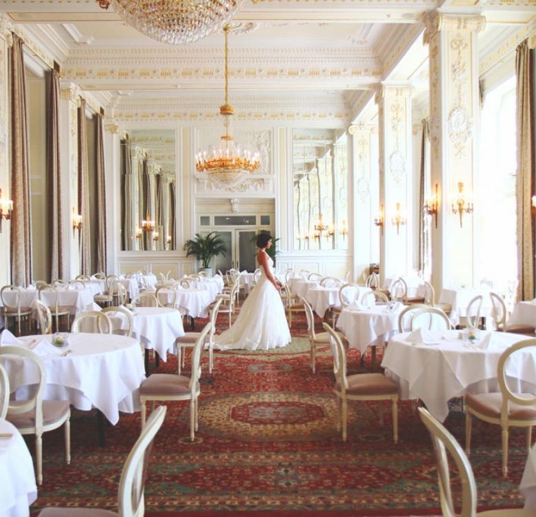 Bride in a luxurious restaurant