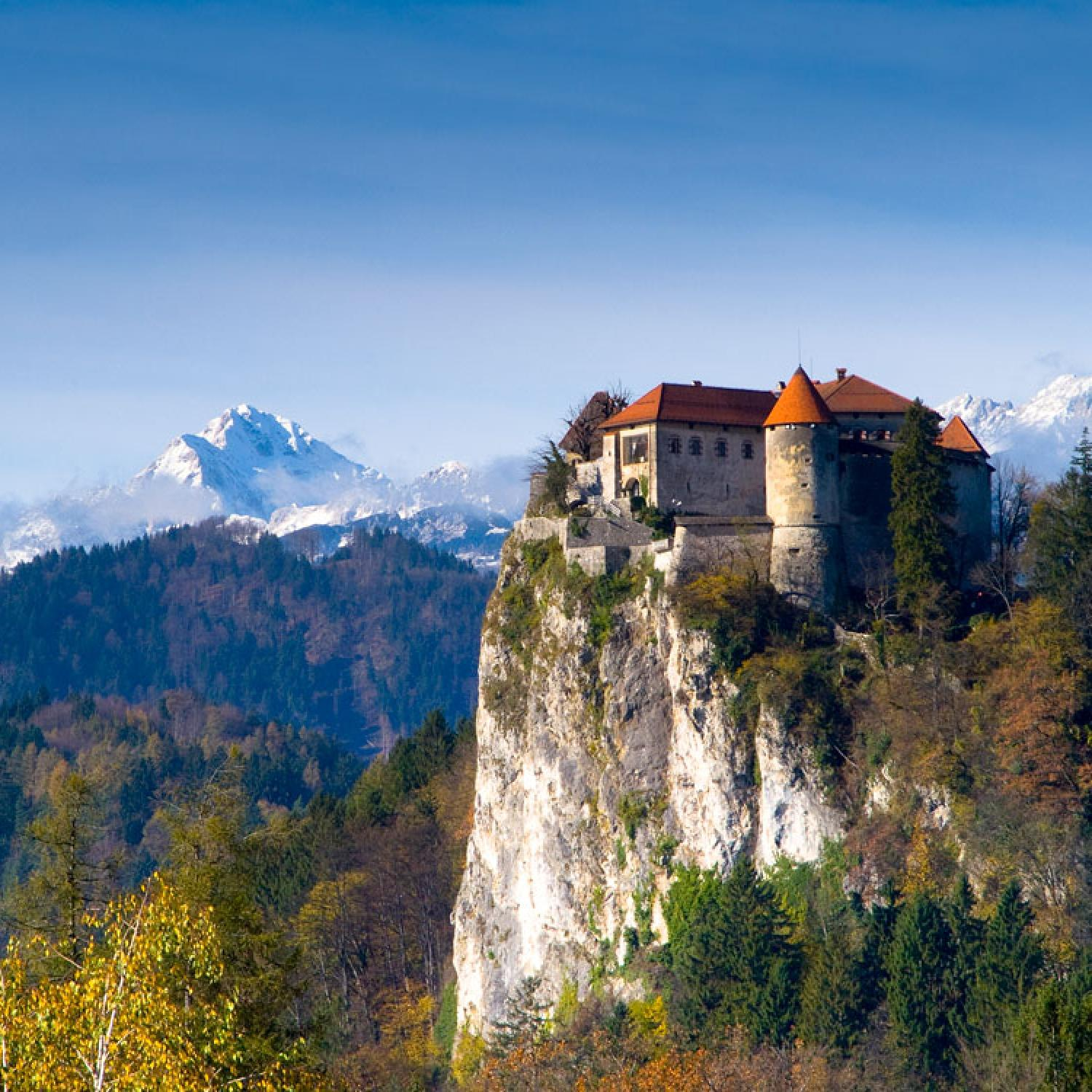 Slovenia - Bled Castle on the top of the cliff
